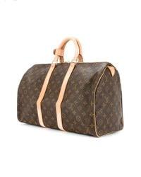 Louis Vuitton - Brown Keepall 45 Monogram Travel Bag - Lyst