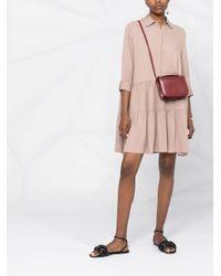 Платье-рубашка Со Складками Fabiana Filippi, цвет: Pink