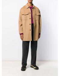 Nanushka Texturierter Mantel in Natural für Herren