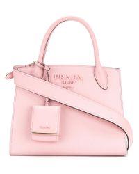 Prada Pink Paradigm Small Tote Bag