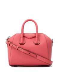Mini sac à main Antigona Givenchy en coloris Pink