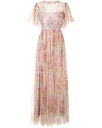 Needle & Thread フローラル マキシドレス Pink