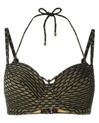 Marlies Dekkers - Black Holi Vintage Plunge Balcony Bikini Top D-size + - Lyst