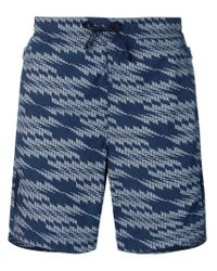 Stone Island Shadow Project Blue Patterned Swimming Shorts for men