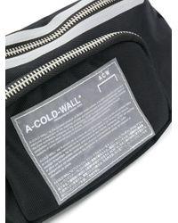 メンズ A_COLD_WALL* ロゴ ベルトバッグ Black