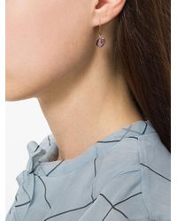 Uzerai Edits - Metallic Amethyst Earrings - Lyst