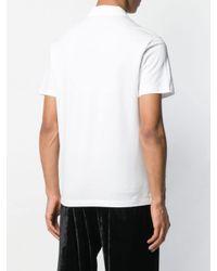Versace Poloshirt mit Stickerei in White für Herren
