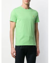 Polo Ralph Lauren Green Embroidered Logo T-shirt for men