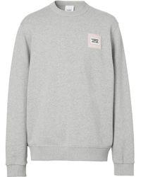 Толстовка С Логотипом Burberry для него, цвет: Gray