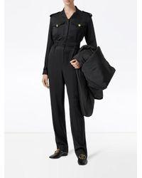 Burberry ベルテッド ジャンプスーツ Black