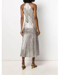 Peek-a-Boo dress Galvan en coloris Metallic