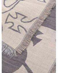 Vivienne Westwood Gray Orb Print Scarf