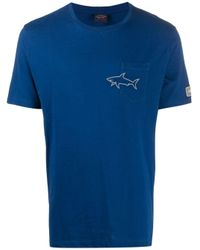 Paul & Shark T-Shirt mit Logo-Print in Blue für Herren