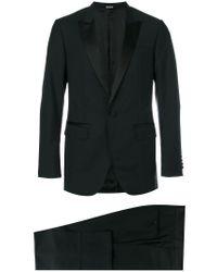 Lanvin Black Silk Lapel Two-piece Suit for men