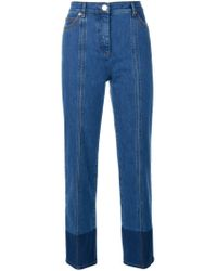 Valentino Blue Two-tone Jeans