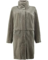 32 Paradis Sprung Freres - Gray Reversible Fur Coat - Lyst