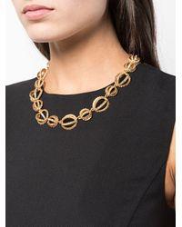 Oscar de la Renta - Yellow Pave Globe Necklace - Lyst