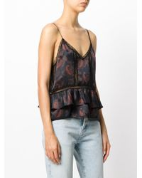 IRO Black Patterned Camisole Top