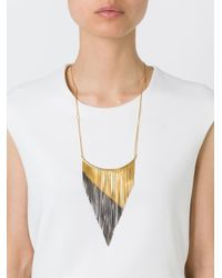 Iosselliani - Metallic 'black Hole Sun' Necklace - Lyst