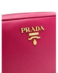 Prada - Pink Saffiano Cross-body Bag - Lyst