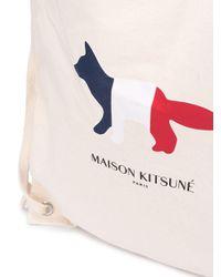 Maison Kitsuné Rucksack mit Fuchs-Print in Multicolor für Herren