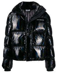 メンズ Daily Paper ホログラム パデッドジャケット Black