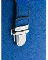 MICHAEL Michael Kors - Blue Mercer Snap Pocket Crossbody Bag - Lyst