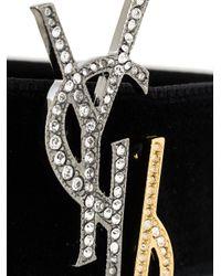 Saint Laurent   Black Logo Choker Necklace   Lyst