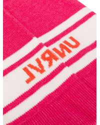 Unravel Project ロゴ 靴下 Pink
