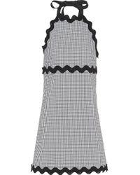 Miu Miu チェック ドレス Gray