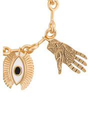 Chloé - Metallic Eye And Hands Charm Bracelet - Lyst