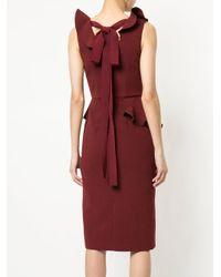 Rebecca Vallance Red Sylvette Midi Dress