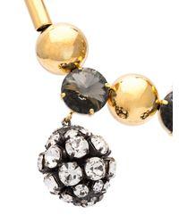 Marni - Black Strass Pendant Necklace - Lyst
