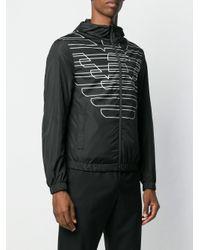 メンズ Emporio Armani モノグラム ボンバージャケット Multicolor