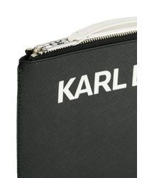 Karl Lagerfeld Black Karl's Essential Logo Clutch