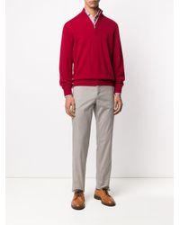 Джемпер С Воротником На Молнии Brunello Cucinelli для него, цвет: Red