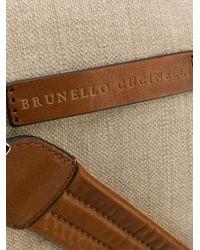 メンズ Brunello Cucinelli ボストンバッグ Brown