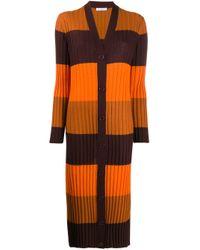 Удлиненный Кардиган В Рубчик Equipment, цвет: Orange