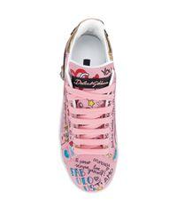 Dolce & Gabbana ポルトフィーノ スニーカー Pink