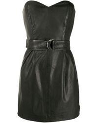 P.A.R.O.S.H. Black Belted Mini Dress
