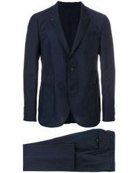 Ferragamo - Blue Striped Single-breasted Suit for Men - Lyst