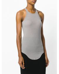 Rick Owens - Gray Curved Hem Tank Top - Lyst