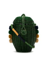 Соломенная Сумка-корзина Wanda Serpui, цвет: Green