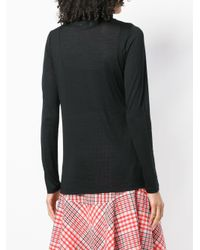 Allude Black Roll Neck Top