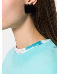 Monies Black Block Earrings