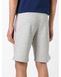 Moncler Gray Signature Trim Shorts for men
