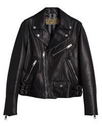 Burberry - Black Biker Jacket for Men - Lyst