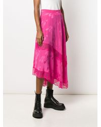 Gonna asimmetrica con stampa paisley di Zadig & Voltaire in Pink