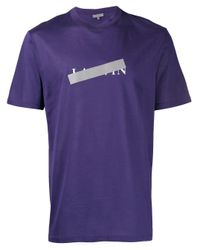 メンズ Lanvin ロゴ Tシャツ Purple