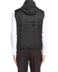 Prada Black Re-nylon Gilet for men